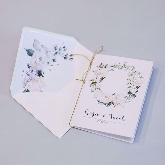 Zaproszenie ślubne klasyczne Kremowe hortensje