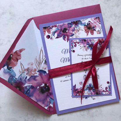 Zaproszenia ślubne Fioletowa łąka