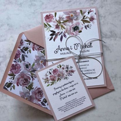Zaproszenia ślubne malwy